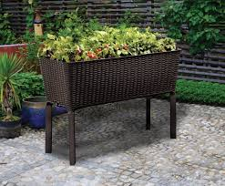 keter elevated garden bed flower pots planter 31 7 gallon capacity