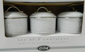 retro canisters kitchen enamel retro kitchen canisters white blue grey tea coffee