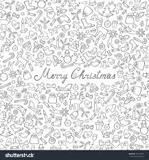 christmas icons seamless pattern happy winter stock vector