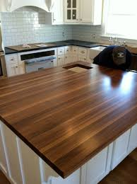 kitchen island butcher block shown in the edge grain construction style with an eased edge and