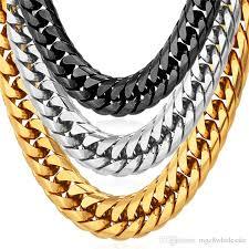 big statement gold necklace images 2018 u7 12mm big chunky statement gold chain necklace bracelet men jpg