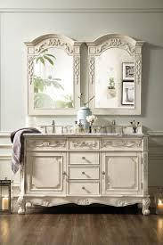Bathroom Double Sink Vanities 60 Inch by 60 Inch Double Sink Bathroom Vanity Vintage Vanilla Finish Marble Top