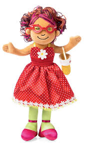 girls doll clothes red dot dress 118840