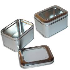 wholesale metal window tins small rectangle tins in stock