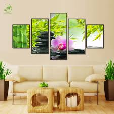 compare prices on botanical art prints online shopping buy low modern 5 panels wall art paint melamine sponge board oil picture botanical feng shui orchid canvas