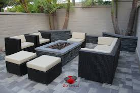 Backyard Patios With Fire Pits by Small Backyard Patio Fire Pit Planters Walls Project View 1