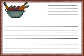 6 recipe card templates itinerary template sample