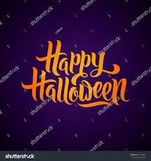 happy halloween greeting card calligraphy halloween stock vector