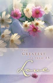 Wedding Bulletin Greatest Of These Is Love Wedding Bulletin Regular Size
