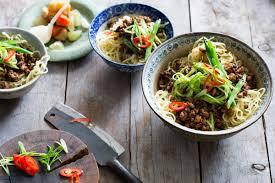 pork and cucumber noodle salad recipe sbs food