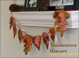 easy leaf garland craft for thanksgiving garlands and easy