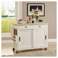 kitchen island wood kitchen island wood white linon home decor target