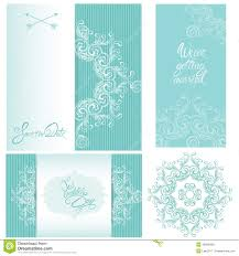 set of wedding invitation cards with floral elements stock vector