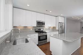 gray glass subway tile kitchen backsplash amys office