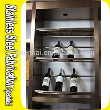 bespoke metal stainless steel wine display shelves wine rack wine