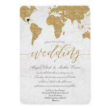 destination wedding invitation gold foil world map destination wedding invitation zazzle
