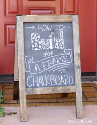 Free Toy Box Plans Chalkboard by Diy Chalkboard Sandwich Board Sandwich Board Framed Chalkboard