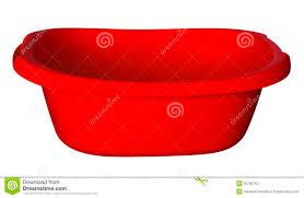 vasca da bagno in plastica vasca da bagno rosso immagine stock immagine di vaschetta
