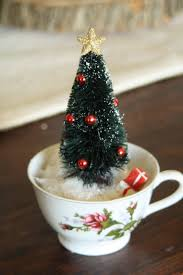 Primitive Holiday Decor Cute Idea Tea Cup Christmas Trees Merry Christmas Pinterest