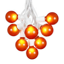 amazon com g50 patio string lights with 25 orange globe bulbs
