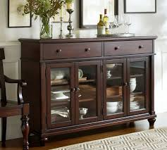 sideboards astonishing buffet table with glass doors buffet