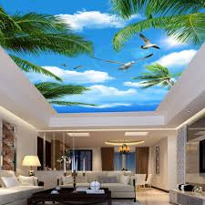 online get cheap sea of trees wallpaper aliexpress com alibaba custom 3d photo wallpaper blue sky sea coconut trees seabirds living room suspended ceiling non woven wall mural wallpaper 3d