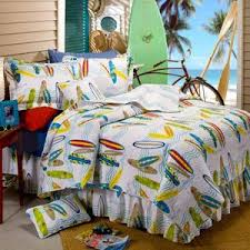 Surfing Bedding Sets White Blue Orange Yellow 6 Surfing Surfboard