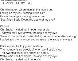 song lyrics for 04 the apple of my eye