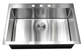 Top Kitchen Sink 33 Inch Top Mount Drop In Stainless Steel Single Bowl Kitchen Sink