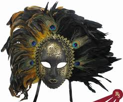 peacock masquerade masks gold and black peacock feathered carnival masquerade mask