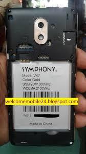 mobile symphony v47 flash file v47 hw1 v8 mt6580 7 0