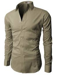 h2h mens classic dress slim fit shirts breathable sleeve of