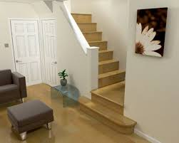 design room 3d online free with minimalist wooden staircase and