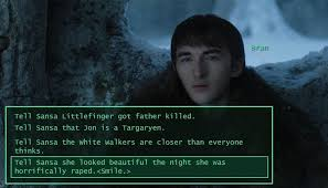 White Walker Meme - bran you had one job game of thrones know your meme