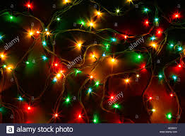 Colorful Christmas Lights On A Black Background Christmas And New