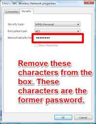 how to change the password to a saved wireless network on a