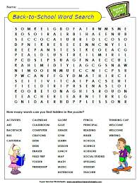 back to word search puzzle