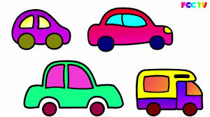 car toy clipart draw set of cars for kids paint colouring pages