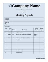 meeting agenda template free printable meeting agenda sample