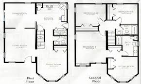 two story house plan 4 bedroom house plan with basement best of 4 bedroom 2 story house