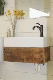 Diy Rustic Bathroom Vanity by Before U0026 After Rustic Bathroom Transformation Diy