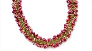 drop beads necklace images Spiral stitch necklace facet jewelry making jpg