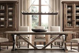 restoration hardware kitchen table restoration hardware salvaged wood x base dining table with