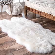 nuloom alexa quatro sheepskin wool four pelt shag rug free