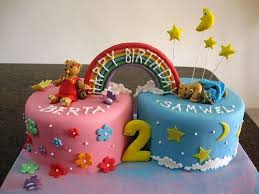birthday cake for twins baby image inspiration of cake and