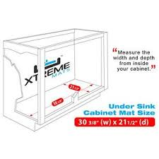 xtreme mats under sink xtreme mats under sink kitchen cabinet mat 30 3 8 x 21 1 2 black