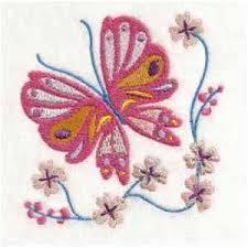 pink butterfly on flower machine embroidery designs