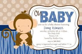 design monkey baby shower invitations