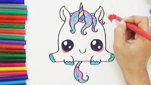 how to draw a cute unicorn cute and easy bodraw youtube
