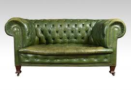 innovative green leather chesterfield sofa antique green leather